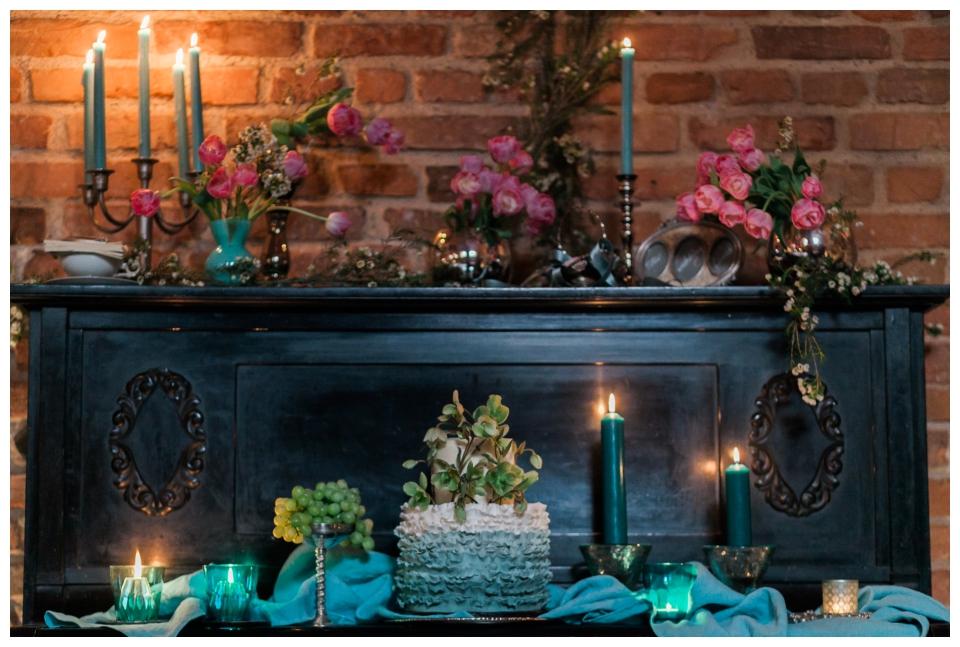 Vandens spalvos dekoras | AQUA WEDDING